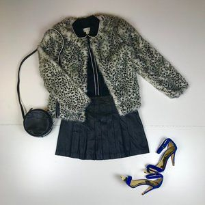 Cupcakes and Cashmere cheetah faux fur jacket